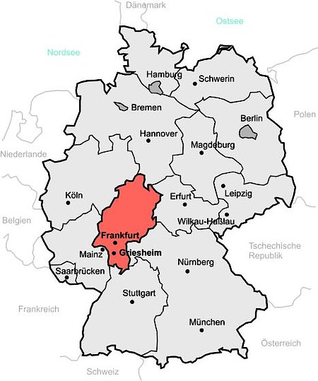 Lage Und Anfahrt Griesheim